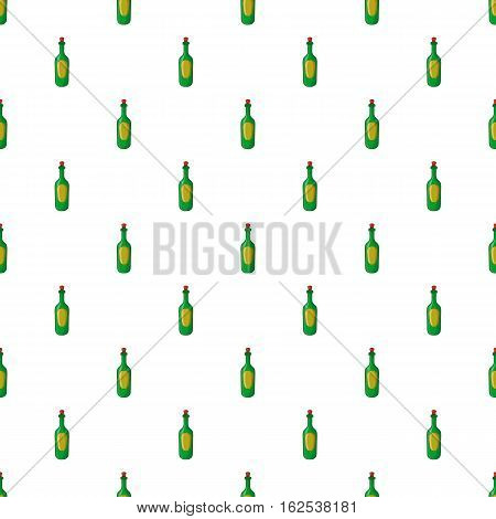 Champagne pattern. Cartoon illustration of champagne vector pattern for web