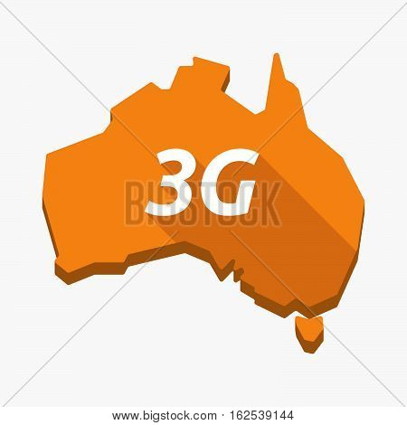Isolated Australia Map With    The Text 3G
