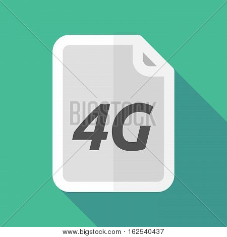 Long Shadow Document With    The Text 4G