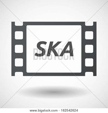 Isolated Frame With    The Text Ska