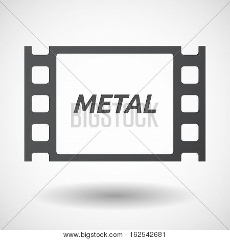 Isolated Frame With    The Text Metal