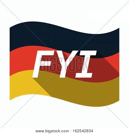 Isolated German Flag With    The Text Fyi