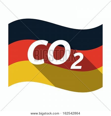 Isolated German Flag With    The Text Co2
