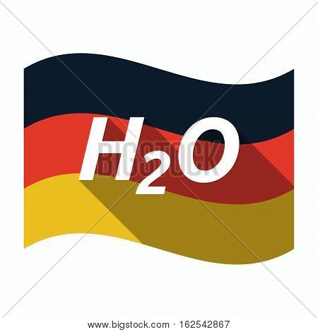 Isolated German Flag With    The Text H2O