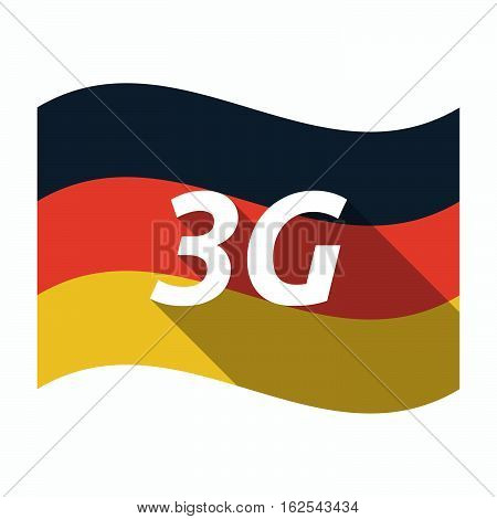 Isolated German Flag With    The Text 3G
