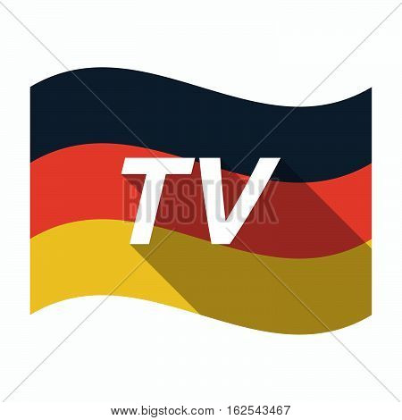 Isolated German Flag With    The Text Tv