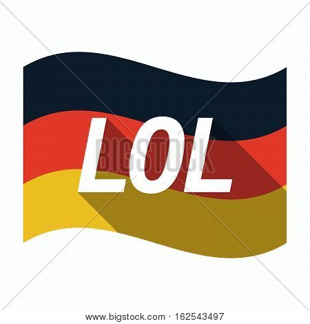 Isolated German Flag With    The Text Lol