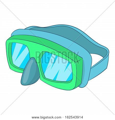 Goggles for diving icon. Cartoon illustration of goggles for diving vector icon for web design