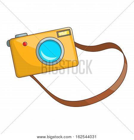 Camera icon. Cartoon illustration of camera vector icon for web design
