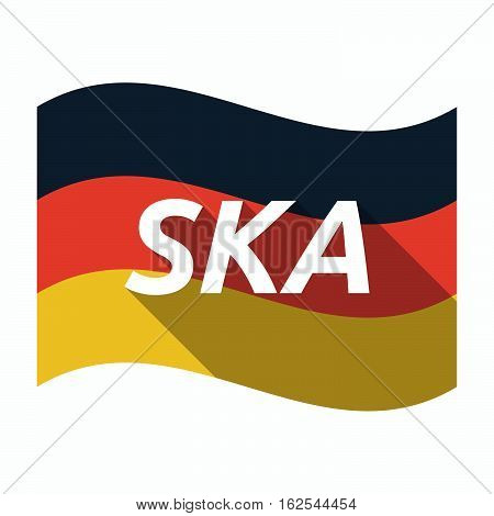 Isolated German Flag With    The Text Ska
