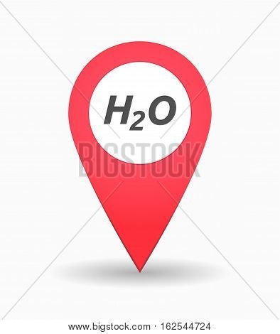 Isolated Map Mark With    The Text H2O
