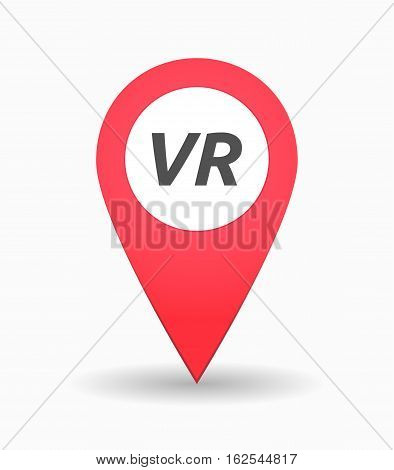 Isolated Map Mark With    The Virtual Reality Acronym Vr