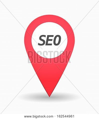 Isolated Map Mark With    The Text Seo