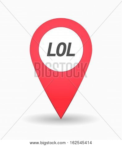 Isolated Map Mark With    The Text Lol