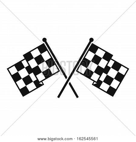 Checkered racing flags icon. Simple illustration of chequered flags vector icon for web