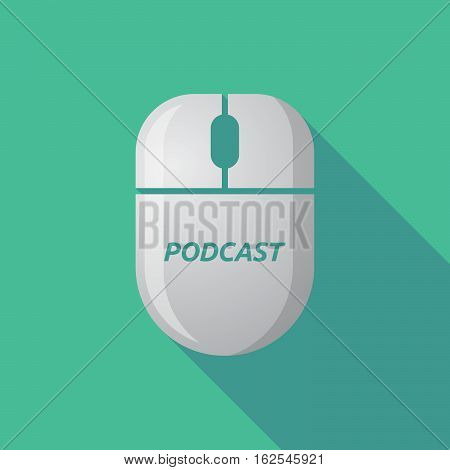 Long Shadow Computer Mouse With    The Text Podcast