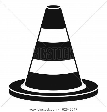 Traffic cone icon. Simple illustration of traffic cone vector icon for web