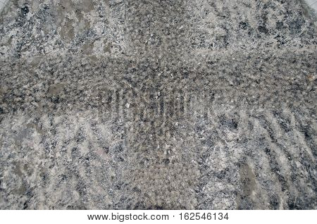 Natural stone gray granite background with untreated surface hard rock texture