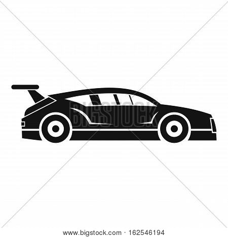 Rally racing car icon. Simple illustration of rally racing car vector icon for web