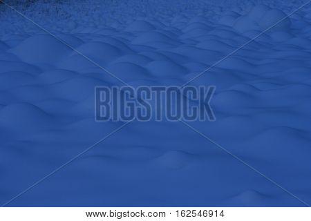 Quando il vento genera dune di neve