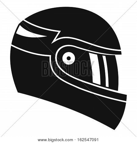 Racing helmet icon. Simple illustration of racing helmet vector icon for web