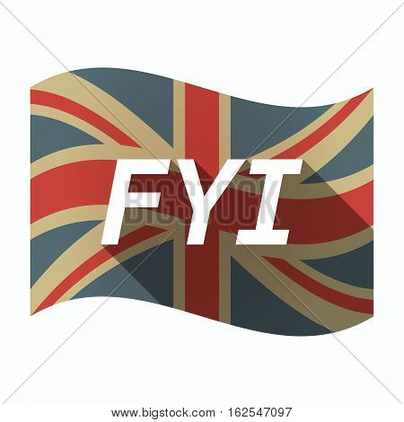 Isolated Uk Flag With    The Text Fyi