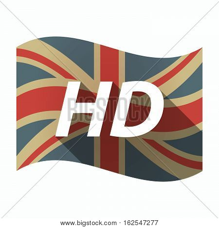 Isolated Uk Flag With    The Text Hd