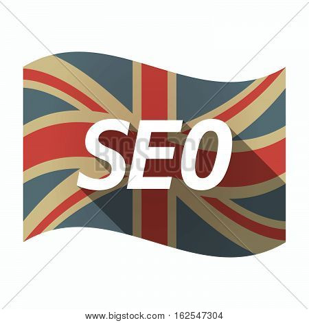 Isolated Uk Flag With    The Text Seo