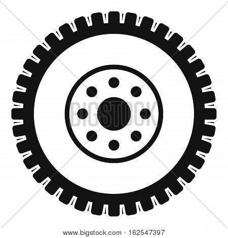 Gear wheel icon. Simple illustration of gear wheel vector icon for web