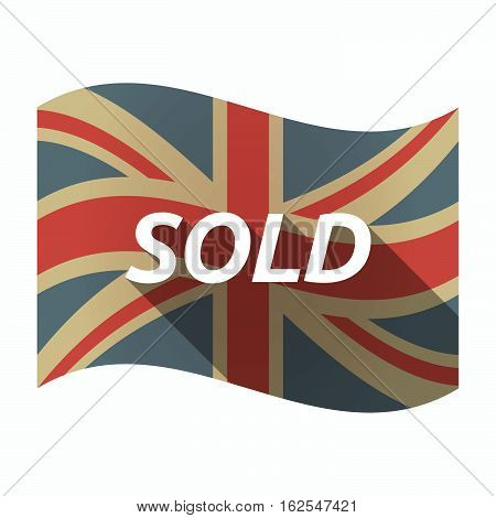 Isolated Uk Flag With    The Text Sold