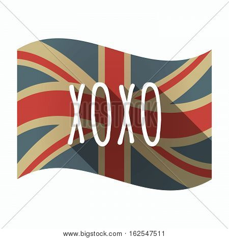 Isolated Uk Flag With    The Text Xoxo
