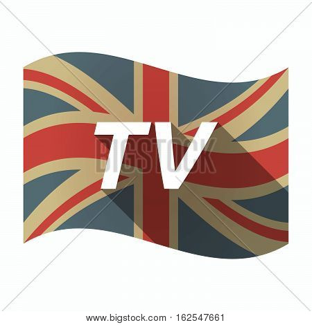 Isolated Uk Flag With    The Text Tv