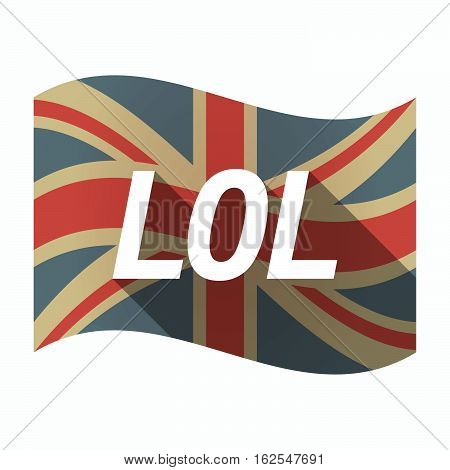 Isolated Uk Flag With    The Text Lol
