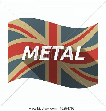 Isolated Uk Flag With    The Text Metal