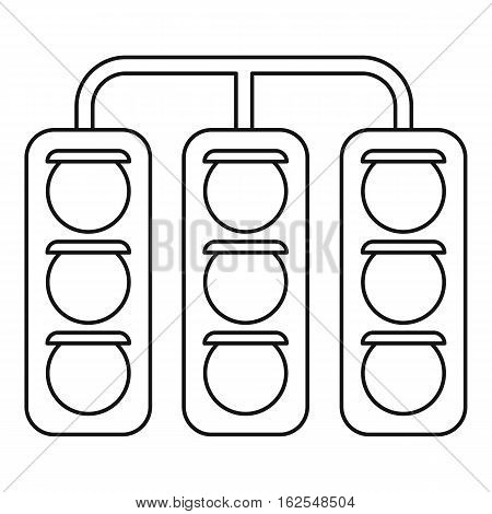 Racing traffic lights icon. Outline illustration of racing traffic lights vector icon for web