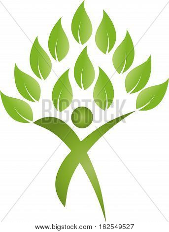 As a plant, chiropractor and sports medicine logo