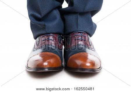 Close-up Of Elegant Man Shoes And Trousers