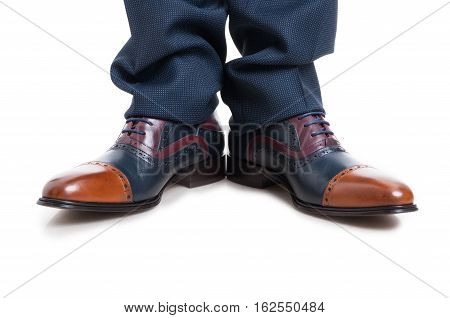 Close-up Of Classy Man Shoes And Trousers