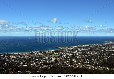 Bulli Beach and coastal view from Bulli Lookout Sydney Australia