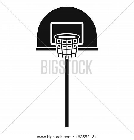 Street basketball hoop icon. Simple illustration of street basketball hoop vector icon for web