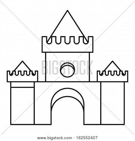 Fairytale magic castle icon. Outline illustration of fairytale magic castle vector icon for web