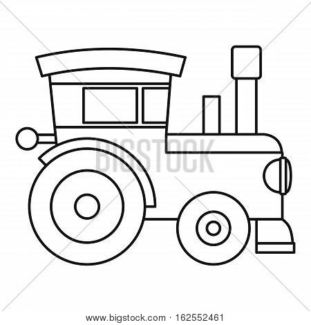 Train locomotive toy icon. Outline illustration of train locomotive toy vector icon for web