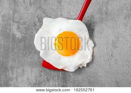 Fried Egg On A Spatula