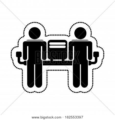 airport terminal sign human silhouette vector illustration design
