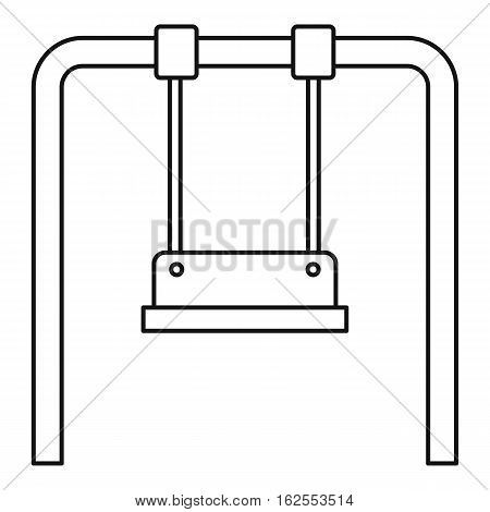 Playground swing icon. Outline illustration of playground swing vector icon for web