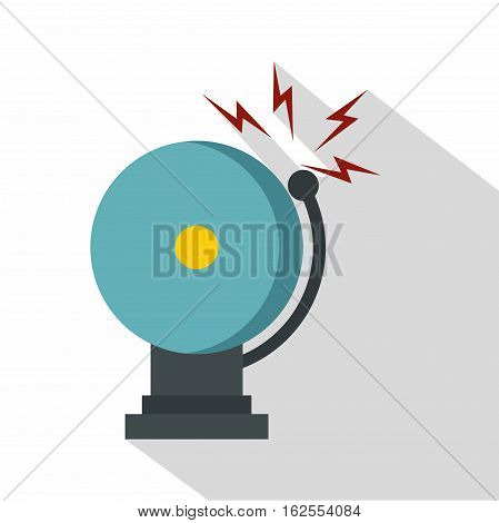 Ringing fire alarm bell icon. Flat illustration of ringing fire alarm bell vector icon for web isolated on white background