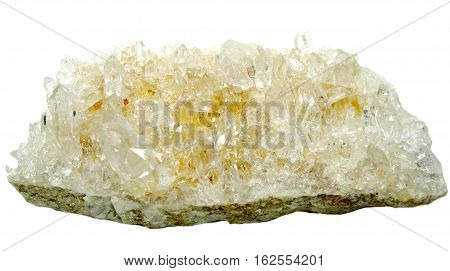 natural quartz semigem geode crystals geological mineral isolated poster