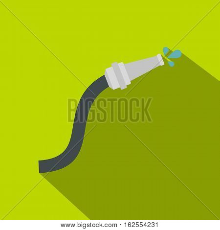 Fire hose icon. Flat illustration of fire hose vector icon for web isolated on lime background