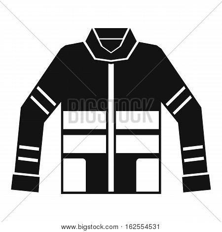 Firefighter jacket icon. Simple illustration of firefighter jacket vector icon for web