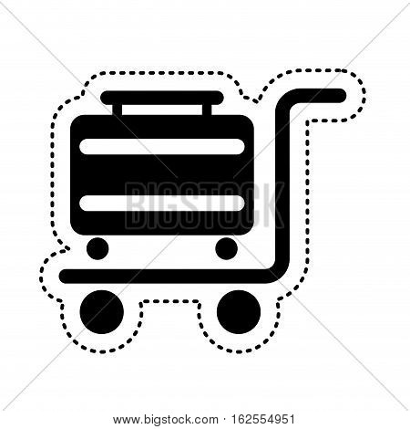 travel suitcase silhouette icon vector illustration design